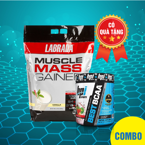 Muscle Mass Gainer 12lbs + Best BCAA 30 servings