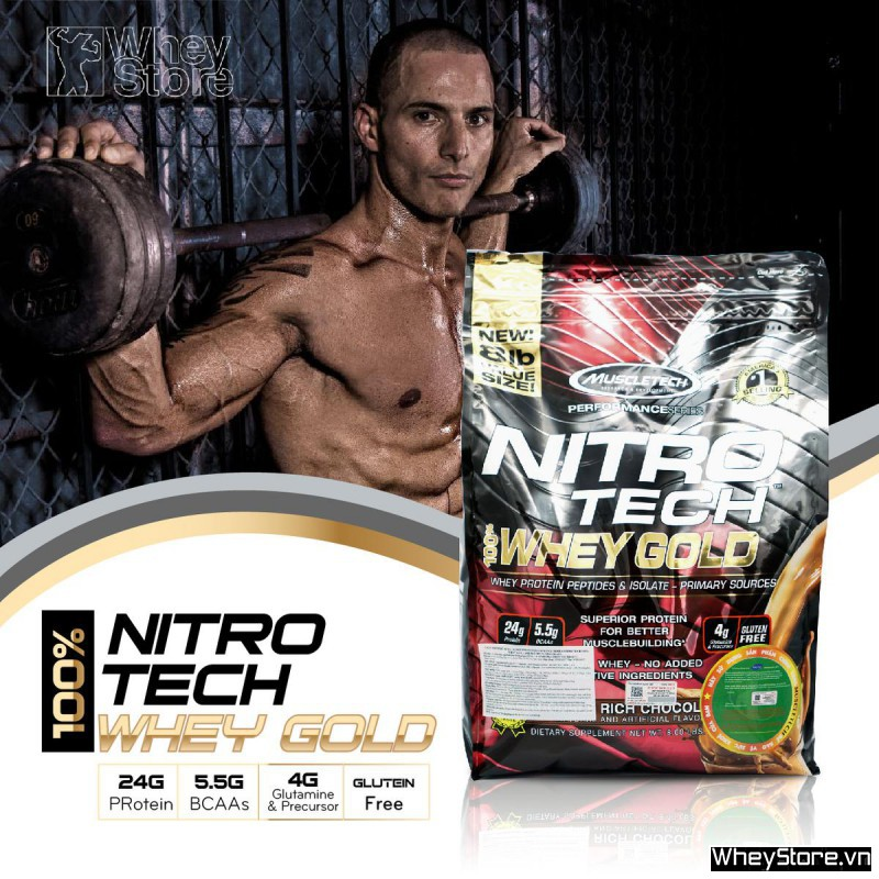 Nitrotech Whey Gold 8lbs