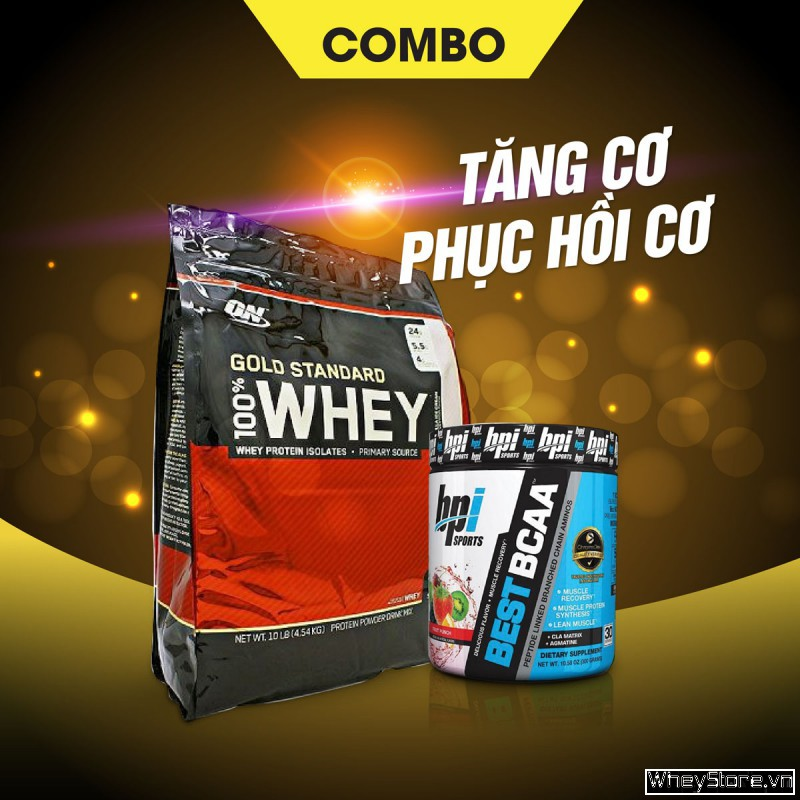 Whey Gold 10lbs + Best BCAA 30 servings