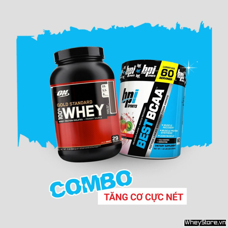 Whey Gold 2lbs + Best BCAA 60 servings