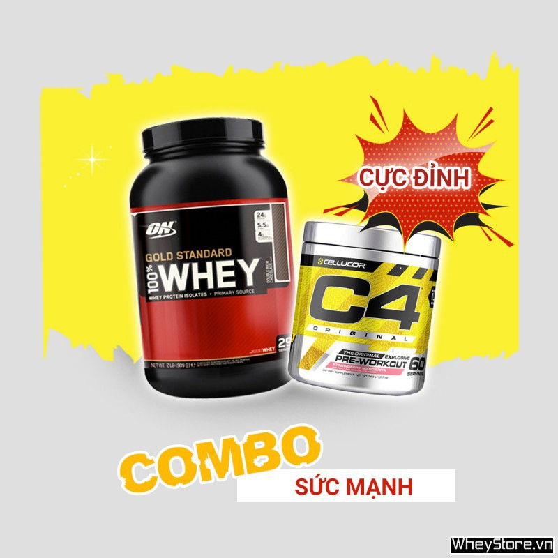 Whey Gold 2lbs + C4 30 servings