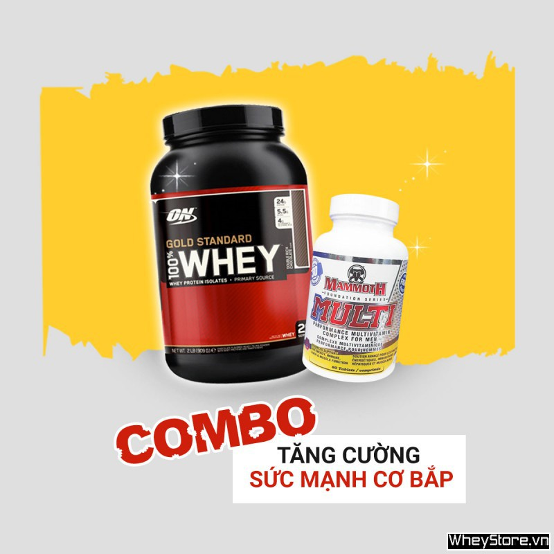 Whey Gold 2lbs + Mammoth Multi 30 servings