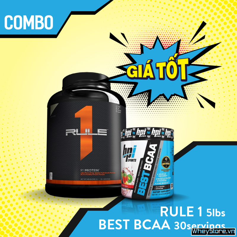 Rule1 5lbs + Best BCAA 30 servings