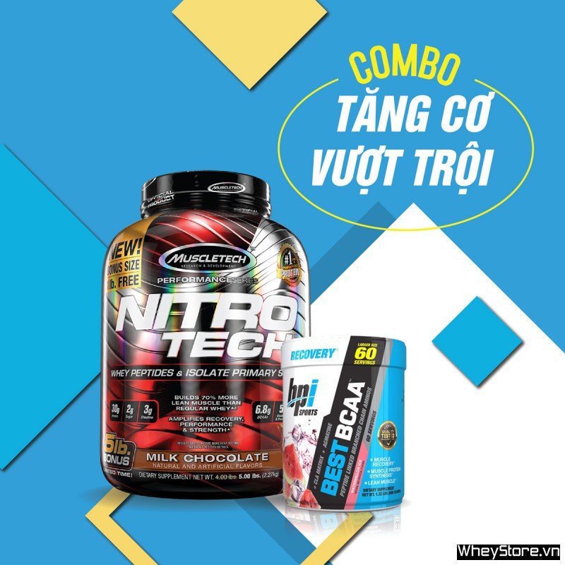 Nitrotech 5lbs + Best BCAA 60 servings