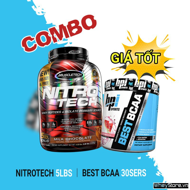 Nitrotech 5lbs + Best BCAA 30 servings