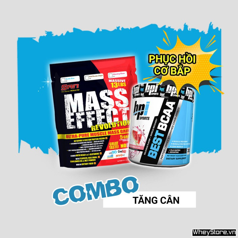 Mass Effect 13lbs + Best BCAA 30 servings