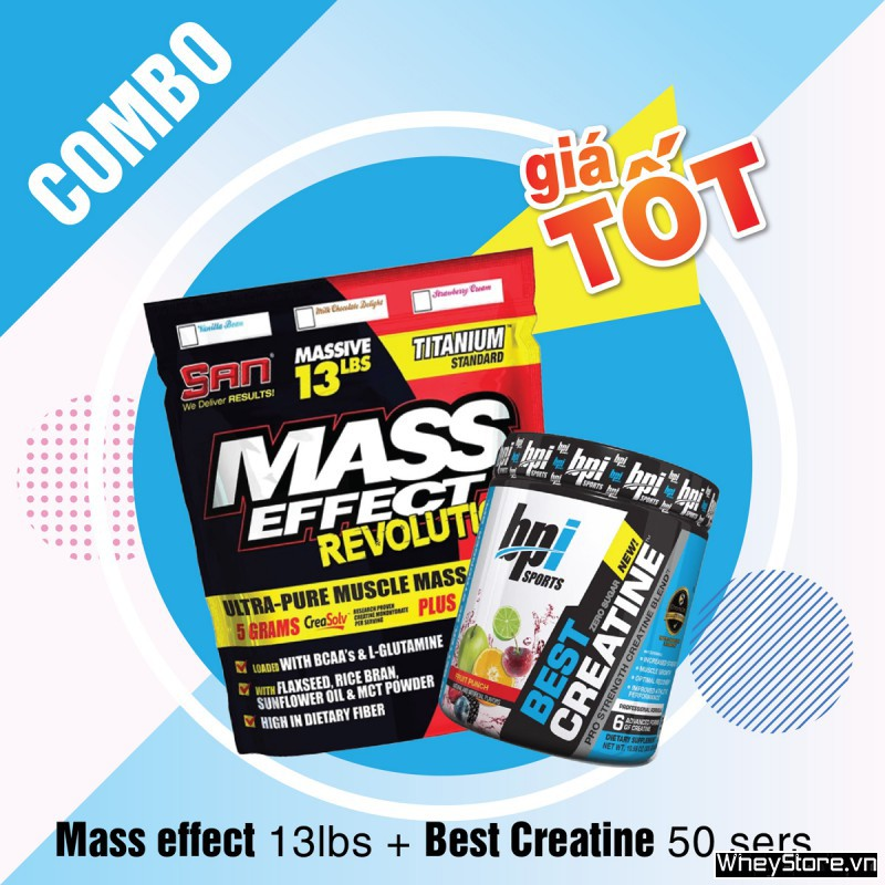 Mass effect 13lbs + Best creatine 50 servings