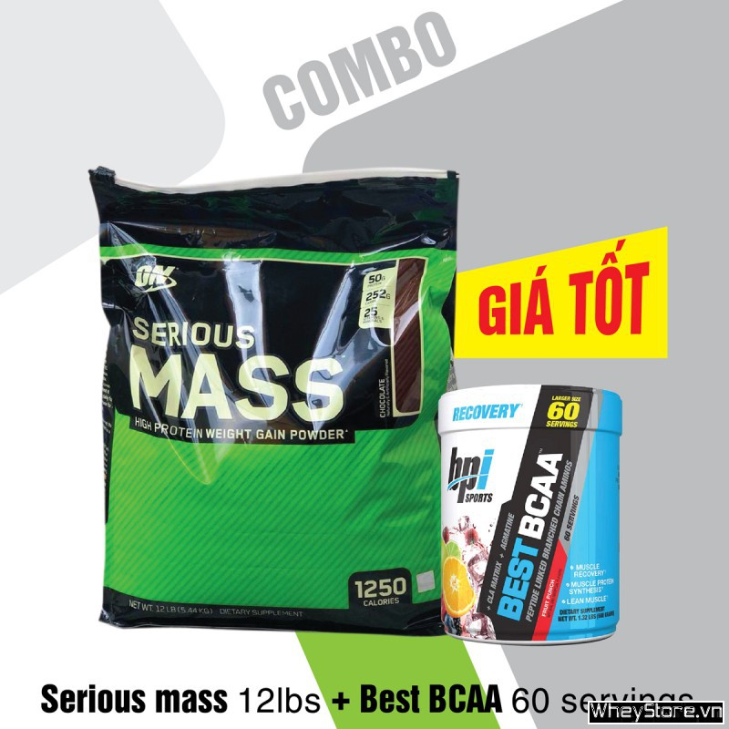 Serious mass 12lbs + Best BCAA 60 servings