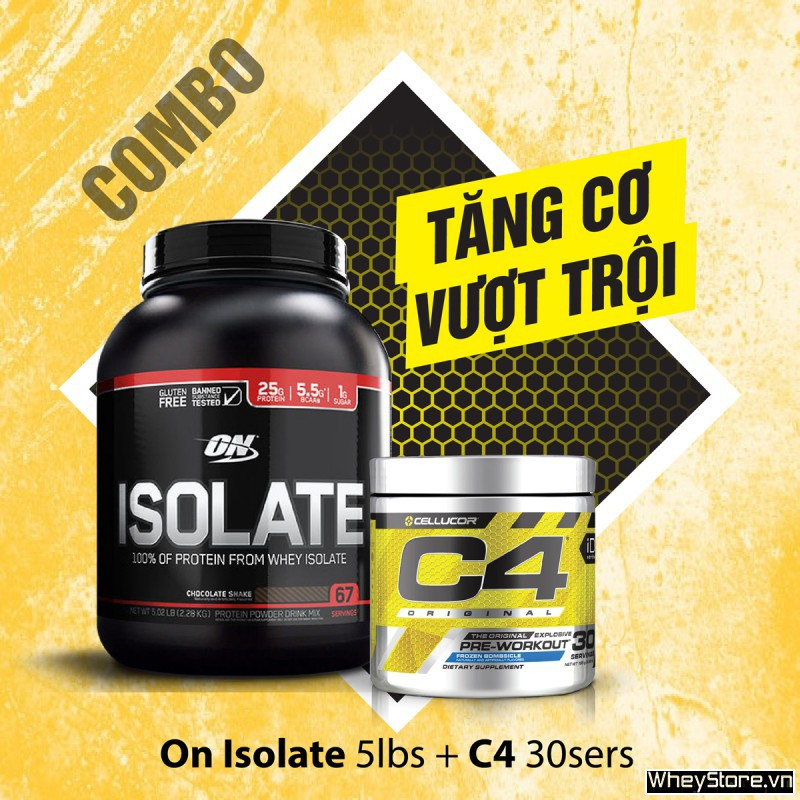 On Isolate 5lbs + C4 30 servings