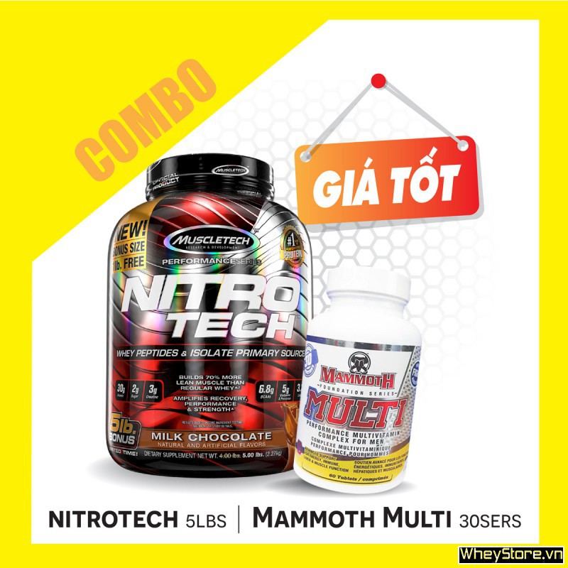 Nitrotech 5lbs + Mammoth multi 30 servings