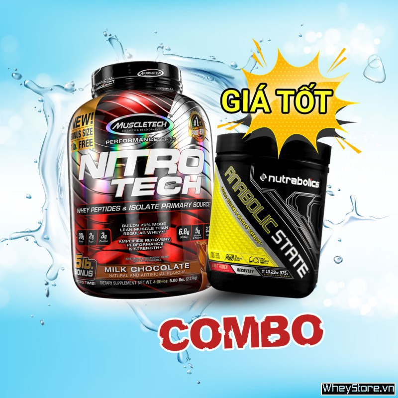 Nitrotech 5lbs + Anabolic State 70servings