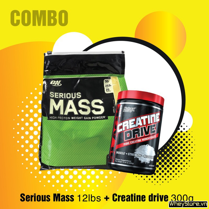 Serious Mass 12lbs + Creatine drive 300g