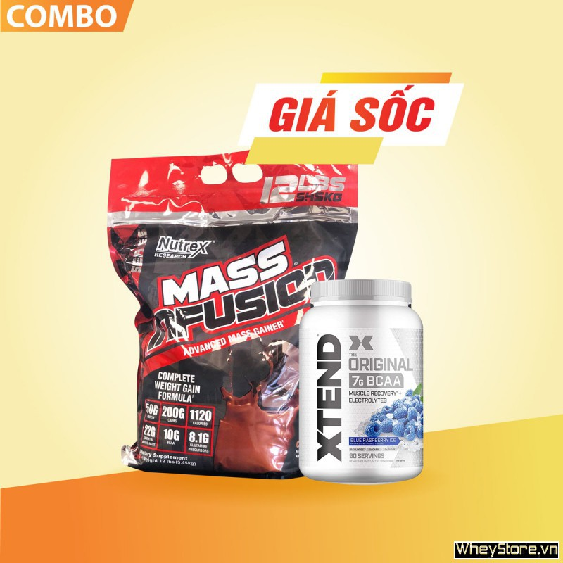 Mass infusion 12lbs + Xtend BCAAs 90 servings