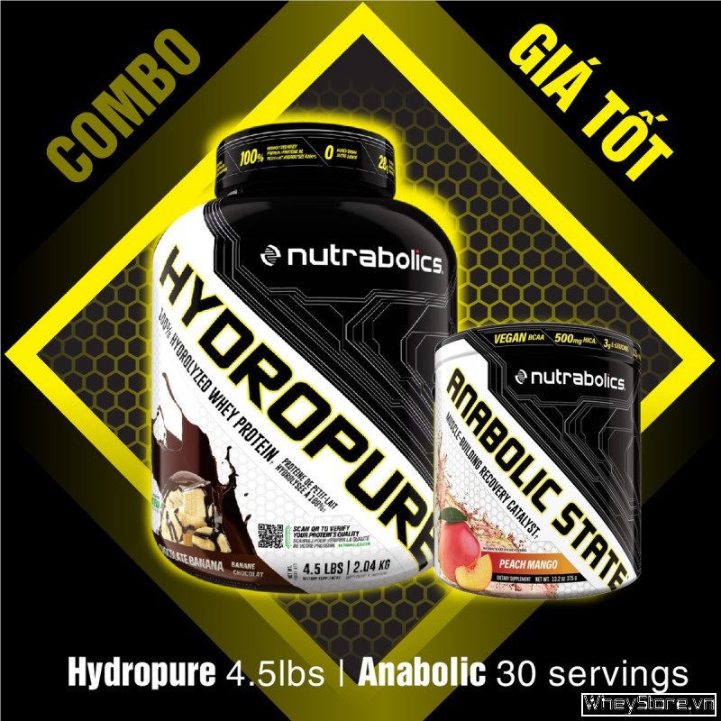 Hydropure 4.5lbs + Anabolic 30 servings