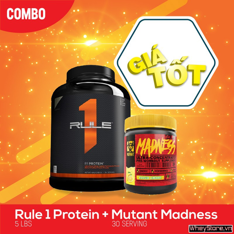 Rule 1 (5.3Lbs) + Mutant Madness (30 servings)