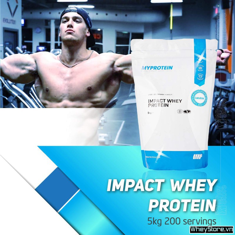 Impact whey protein 5kg 200 servings