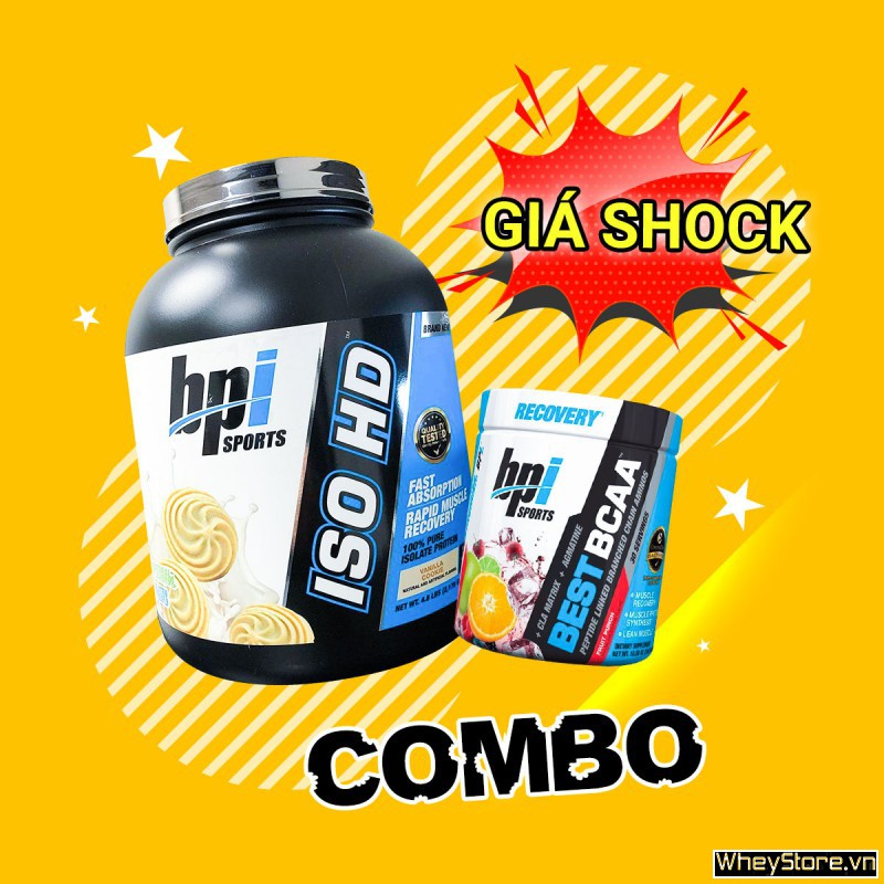 Iso HD 5lbs + Best BCAA 30 servings