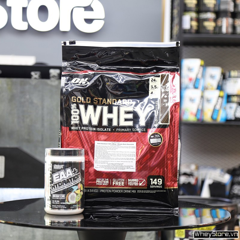 Whey Gold Standard 10lbs + Nutrex EAA Hydration 30 servings