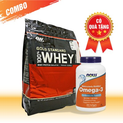 Whey Gold Standard (10lbs) + Omega-3