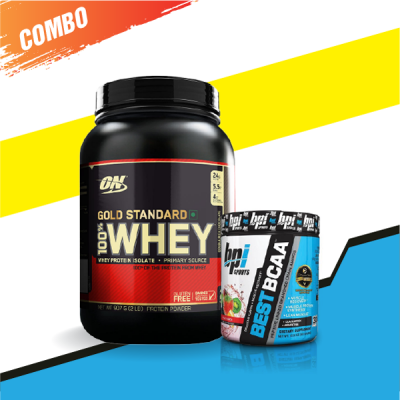 Whey Gold 2lbs + Best BCAA 30 servings