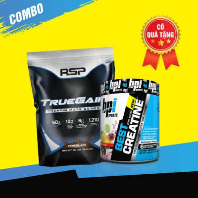 True gain 12lbs + Best creatine 50 servings
