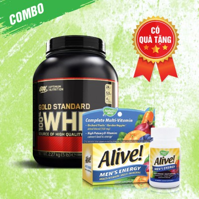 Whey Gold 5lbs + Alive Men's Energy