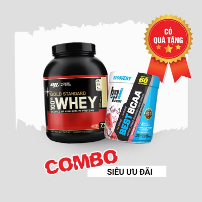 Whey gold 5lbs + Best BCAA 60 servings