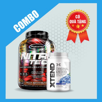 Nitrotech 5lbs + Xtend BCAA 90 servings