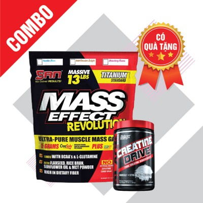 Mass effect 13lbs + Creatine drive 300g