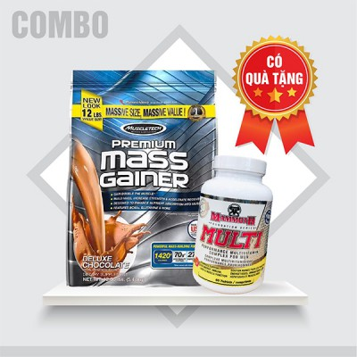 Premium mass gainer 5.4kg + Mammoth Multi 30 servings