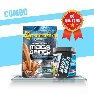 Premium mass gainer 5.4kg + Best BCAA 30 servings
