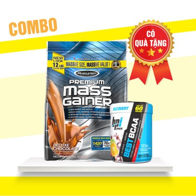 Premium mass gainer 5.4kg + Best BCAA 60 servings