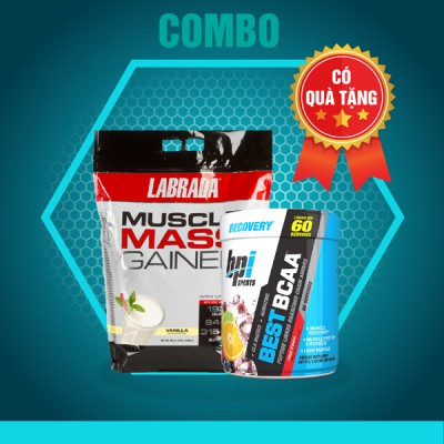 Muscle mass gainer 12lbs + Best BCAA 60 servings