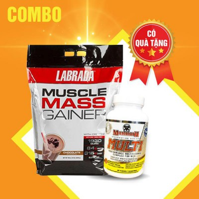 Muscle mass gainer 12lbs + Mammoth multi 30 servings