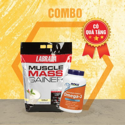 Muscle Mass Gainer 12lbs + Now Omega-3