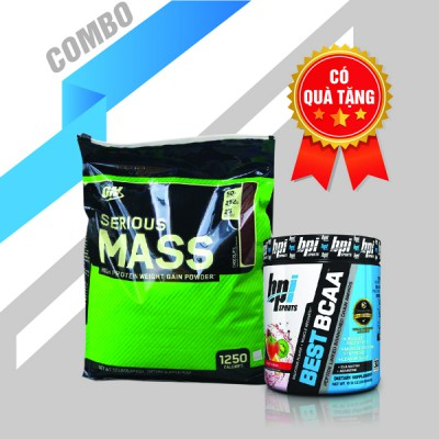Serious mass 12lbs + Best BCAA 30 servings