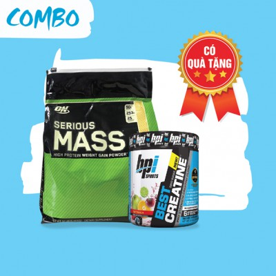 Serious mass 12lbs + Best creatine 50 servings