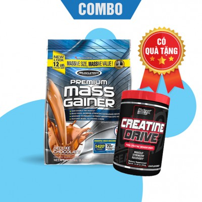 Premium mass gainer 5.4kg + Creatine drive 300g