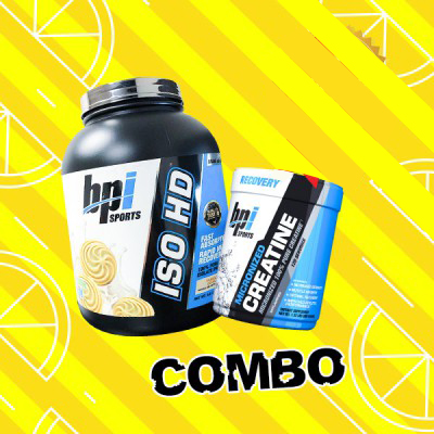 Iso HD 5lbs + BPI Creatine 120 servings