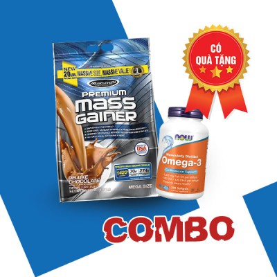 Premium mass gainer + Now Omega -3